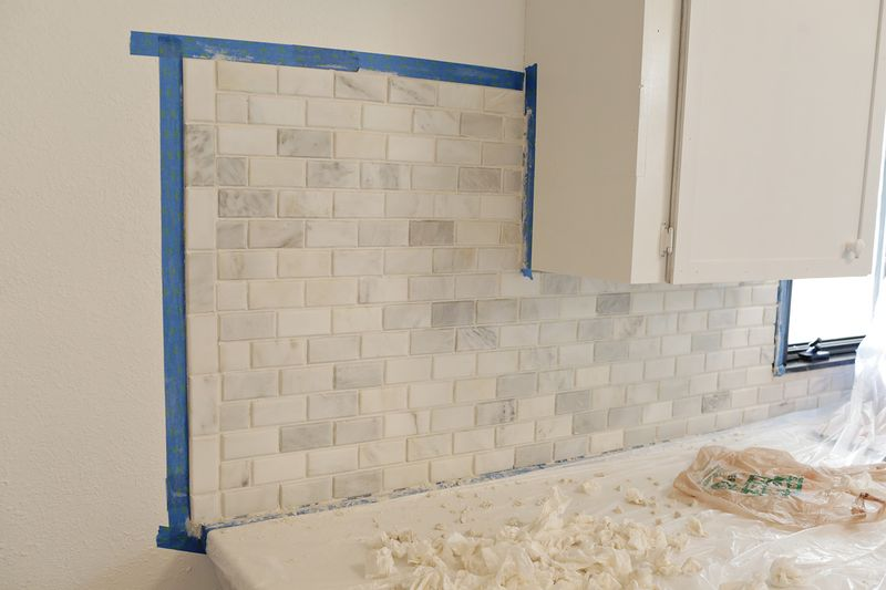 Remove grout to reveal edges