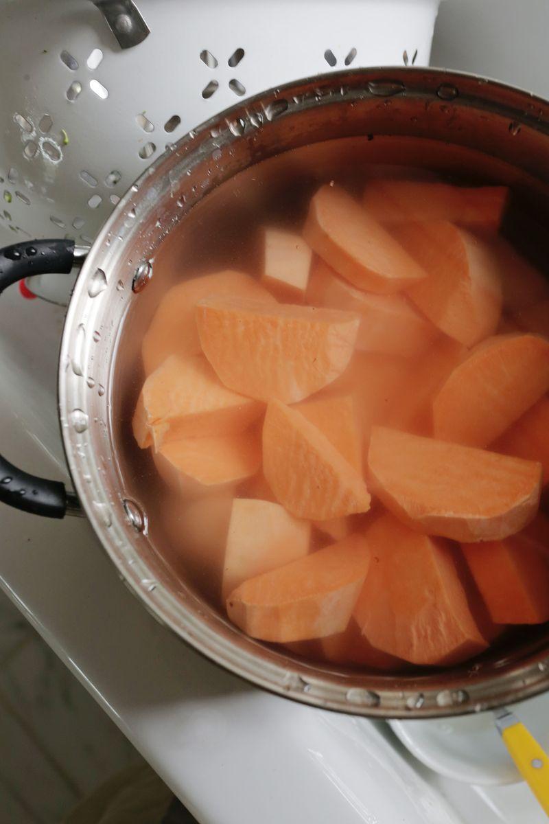 Cook the sweet potatoes