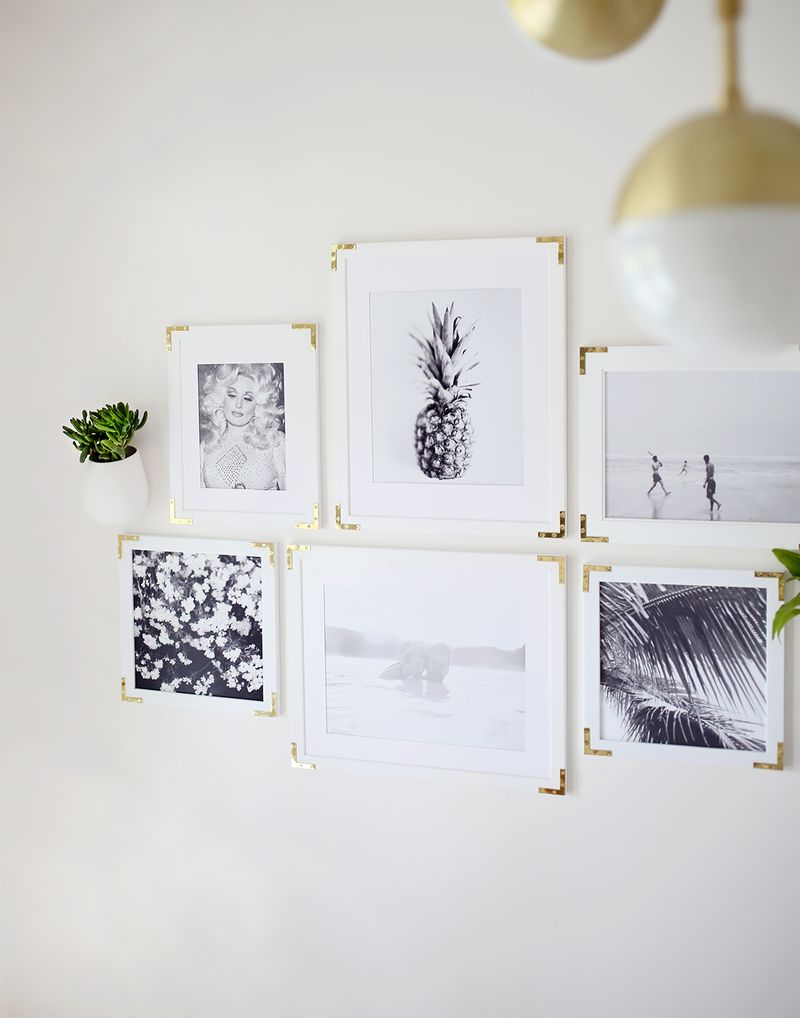 Try This: Update Simple Frames With Gold Hardware - A Beautiful Mess