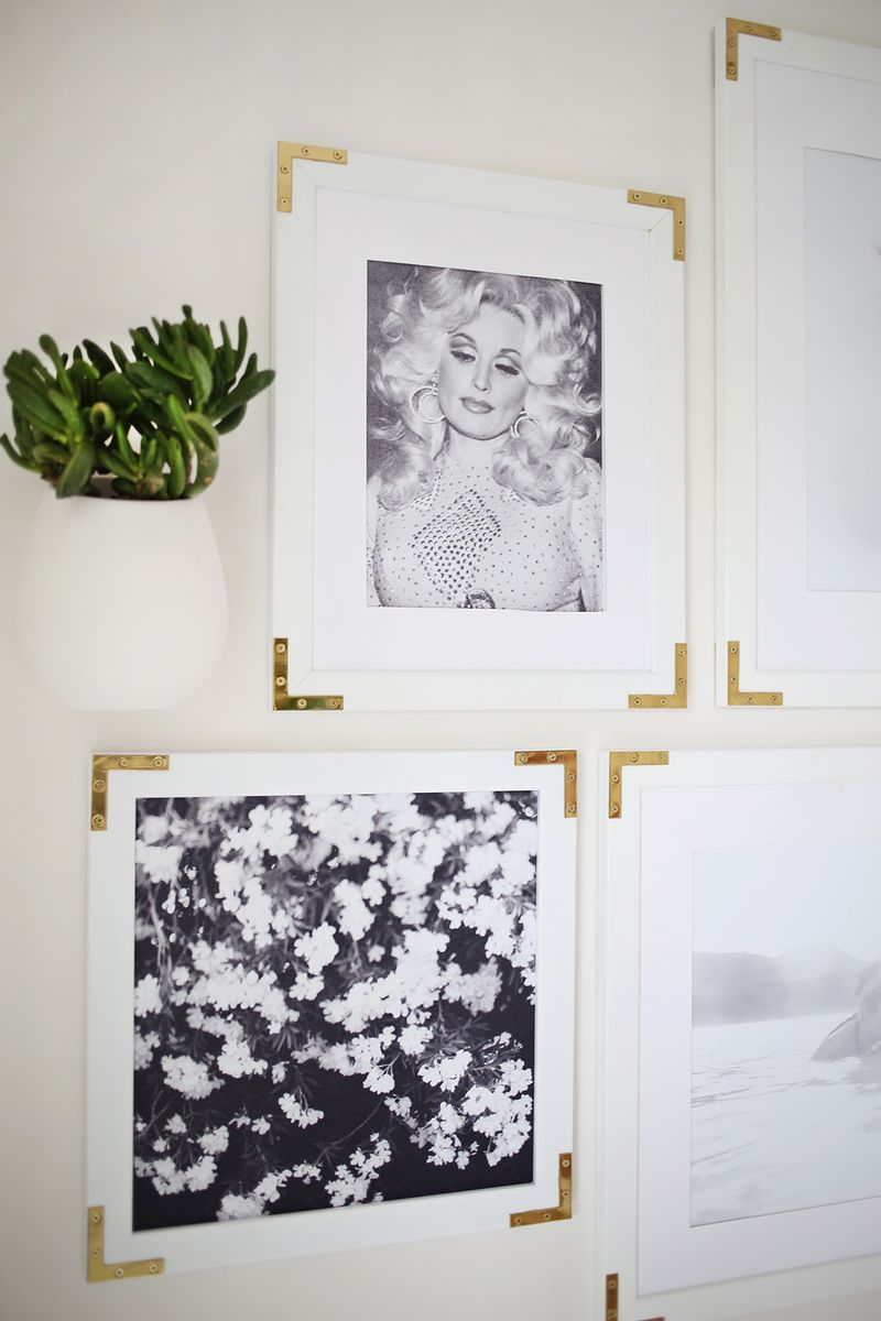 Try This- Update Simple Frames With Gold Hardware
