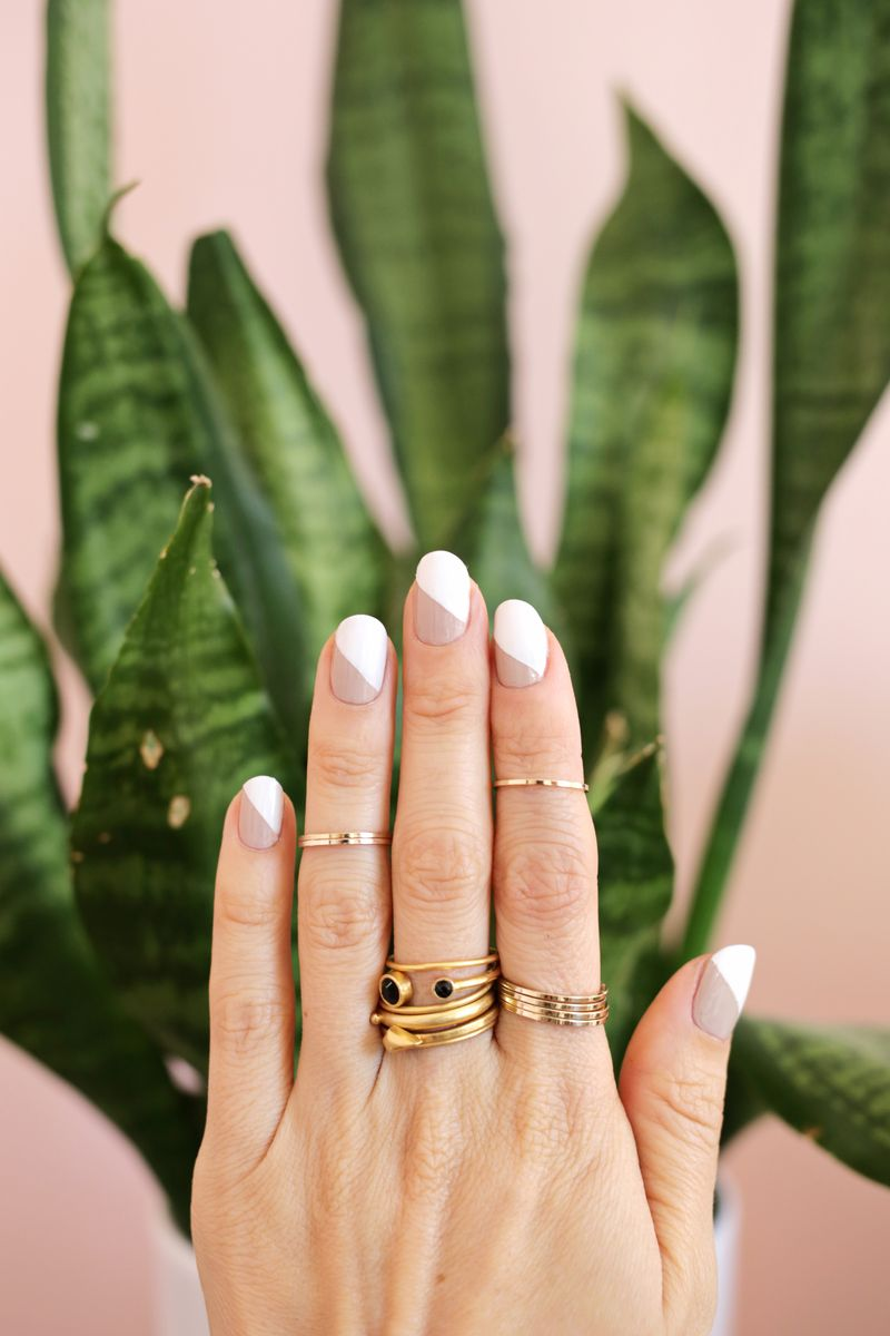 Love these! simple nude mani 3 ways (click through for more)