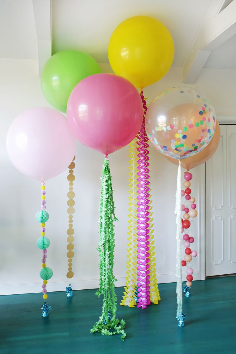 5 Balloon Diys For Your Holiday Party A Beautiful Mess