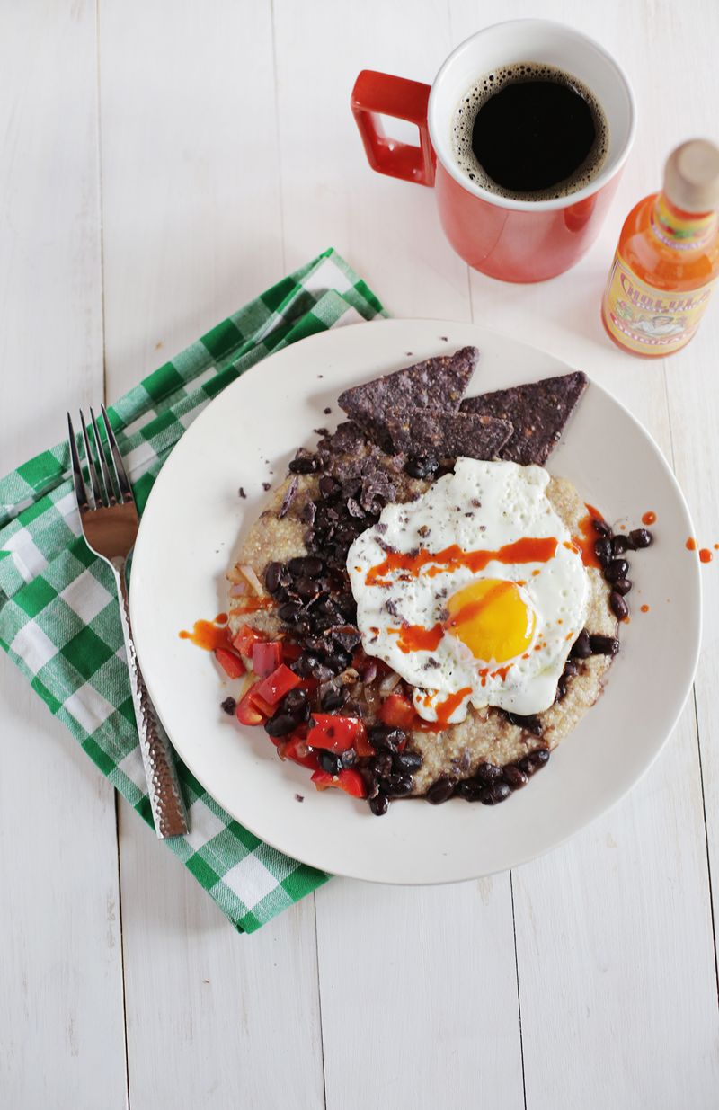 Spicy black bean hot cereal