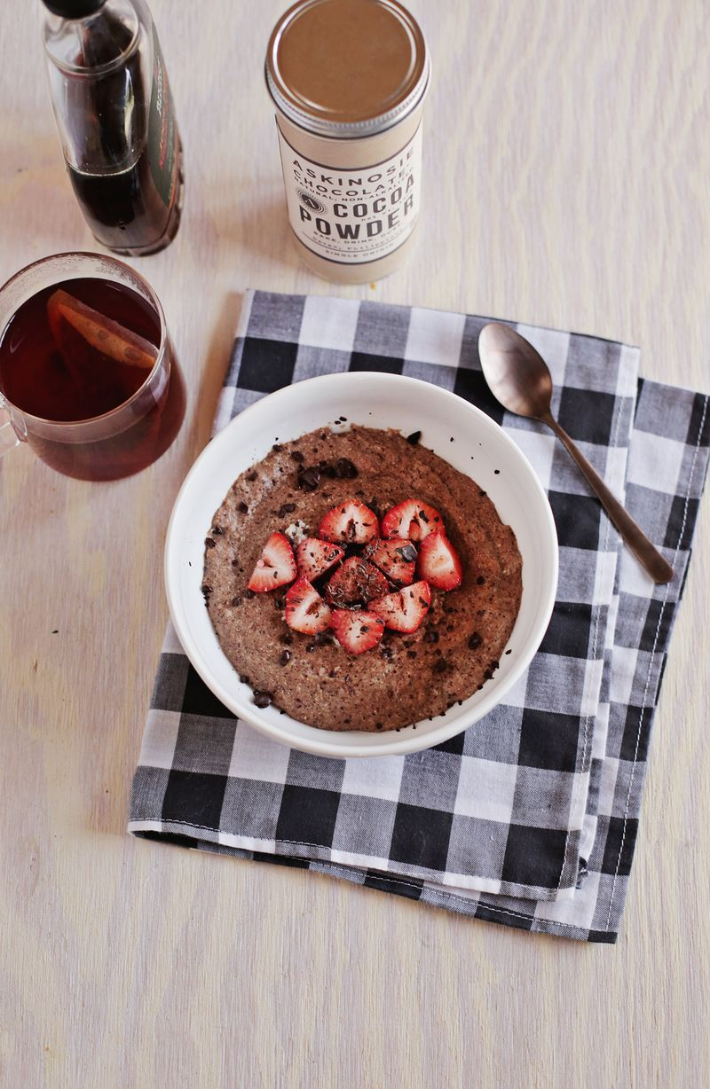 Chocolate hot cereal