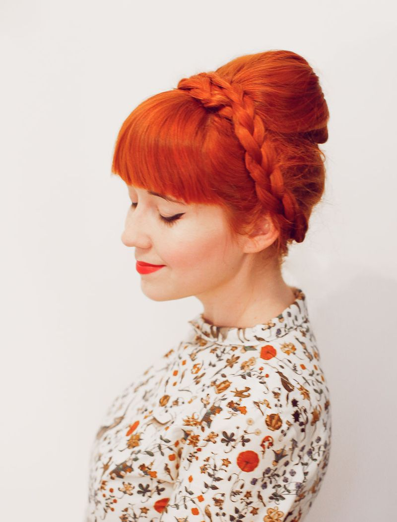 Easy No Tease Braided Bouffant - A Beautiful Mess
