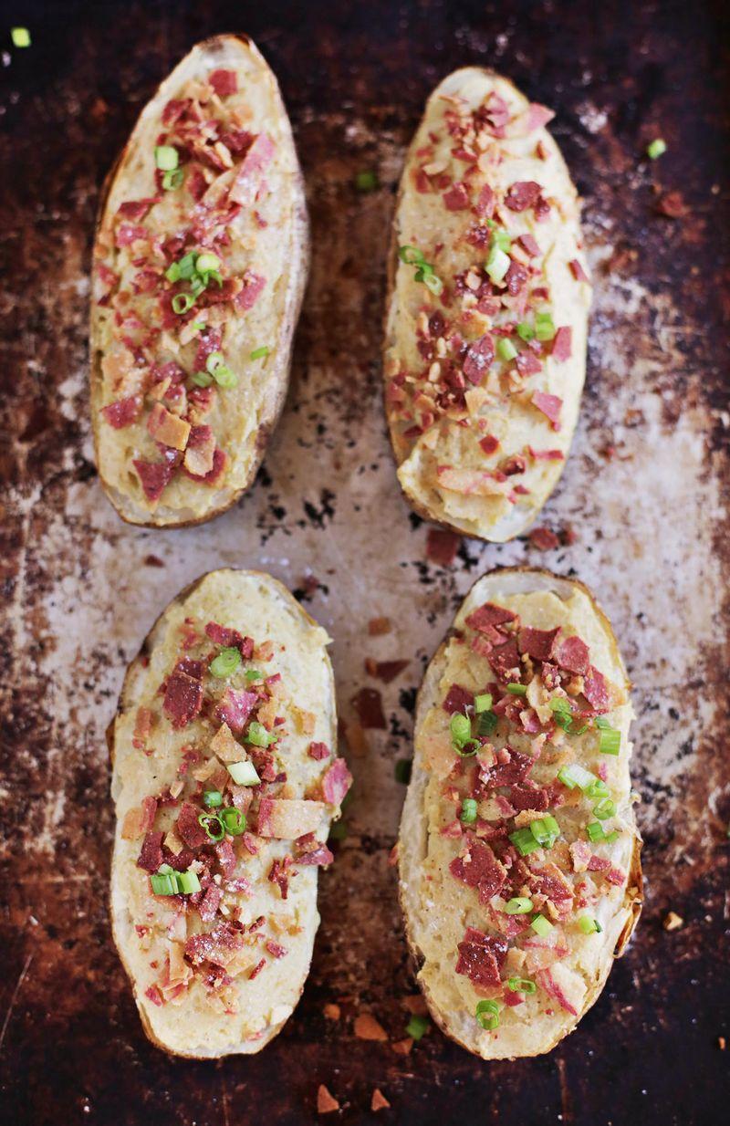 Easy vegan twice baked potatoes
