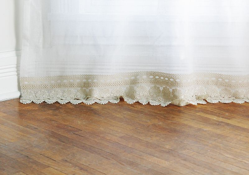 Lengthen your curtains without sewing