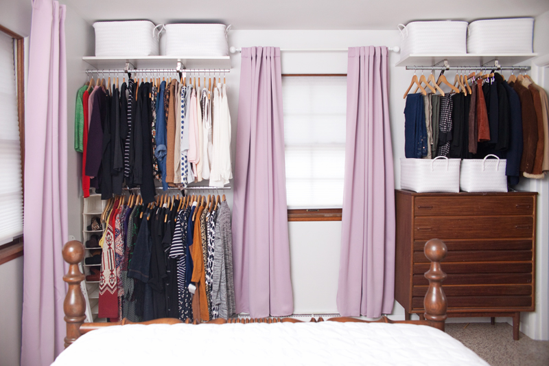 DIY Open Closet System  For Those With Tiny Bedroom Closets!