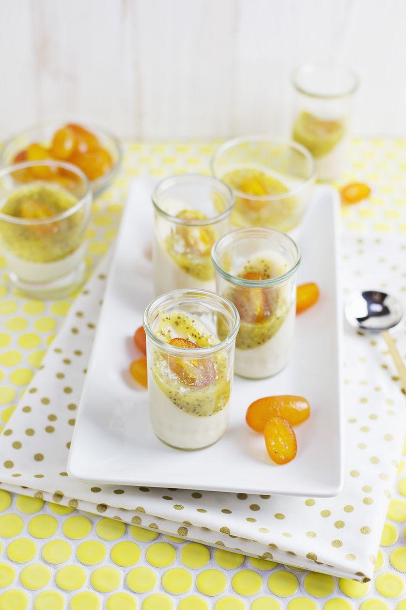Panna Cotta With Pineapple Chia Glaze Vegan Friendly A