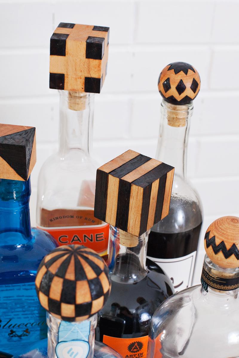 DIY Wood Burned Bottle Stoppers