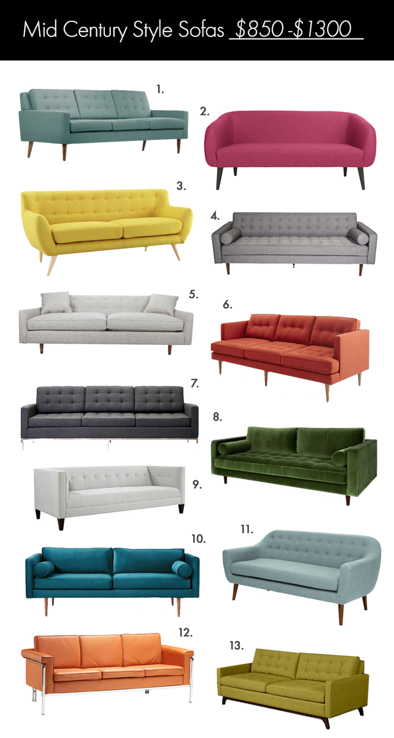 The Ultimate Mid Century Style Sofa Guide Click Through For Links