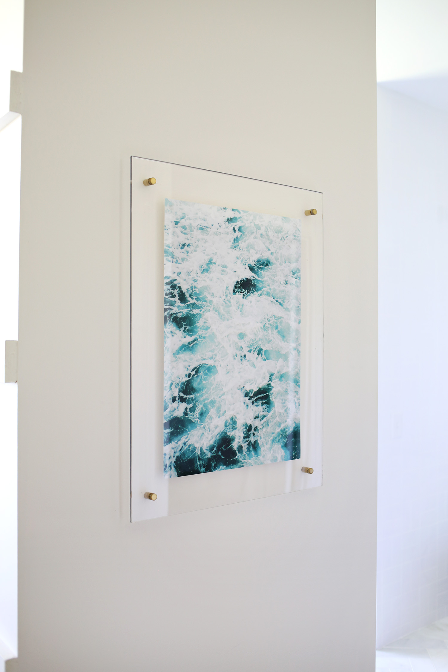 Floating Acrylic Frame DIY - A Beautiful Mess