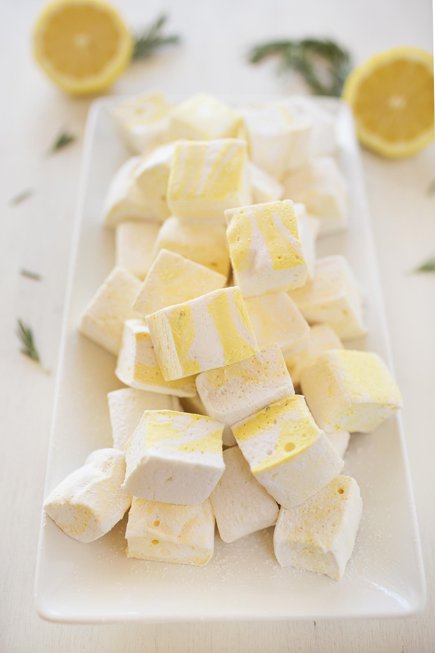 Lemon and Rosemary Marhmallows (via abeautifulmess.com)