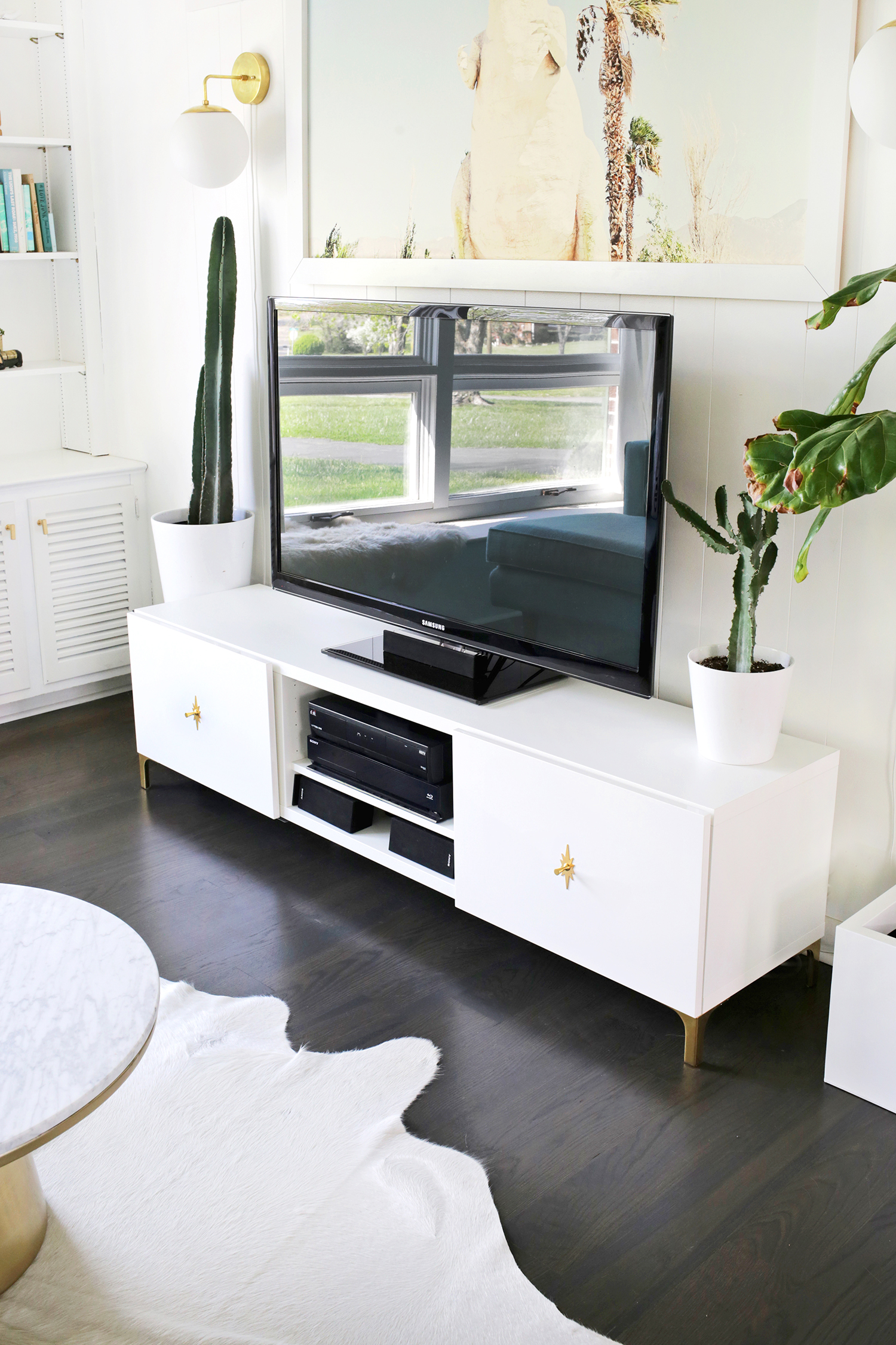 ikea restyle: mid century tv stand - a beautiful mess