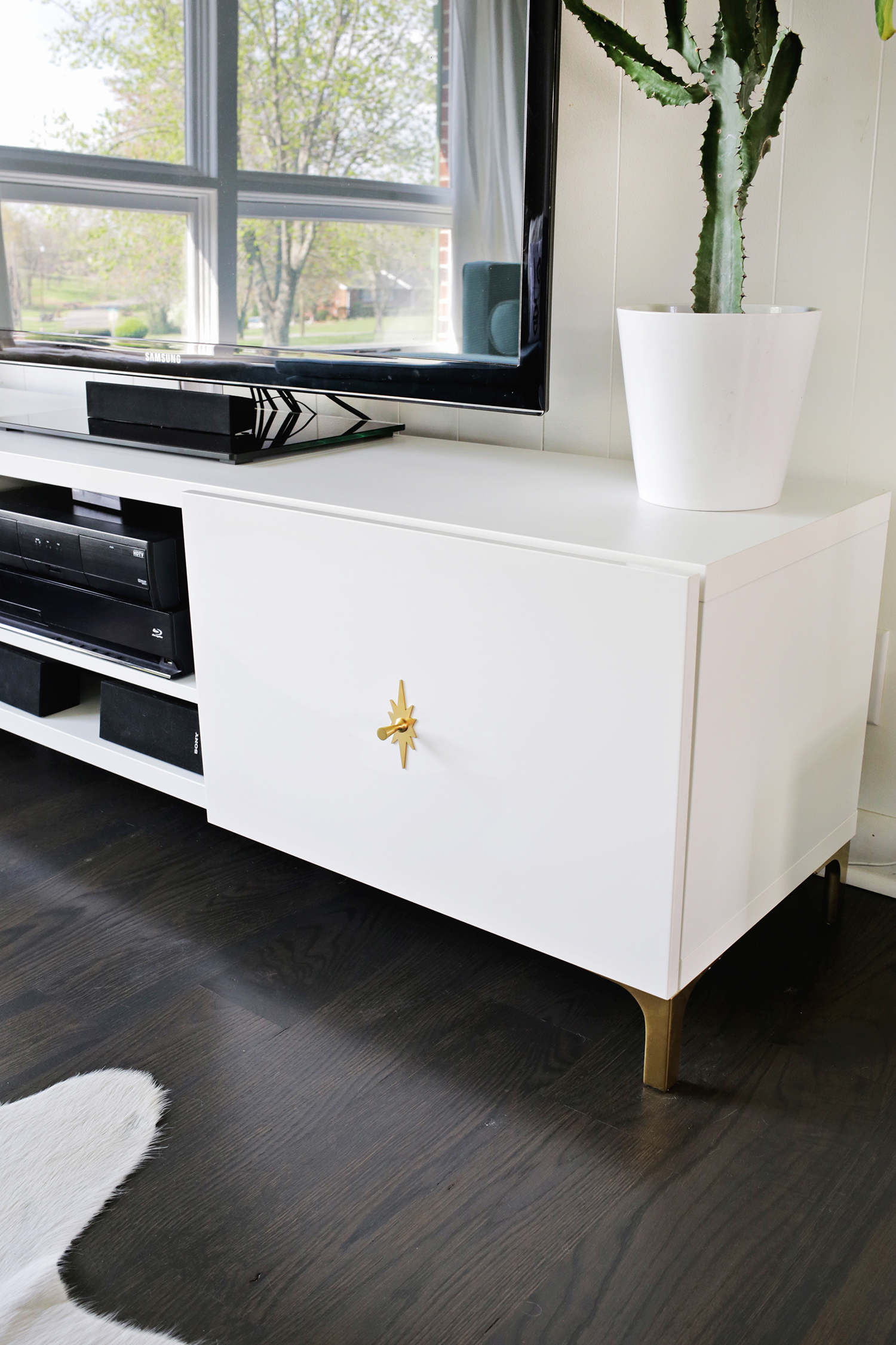 Ikea Restyle! Make your tv stand more midcentury (click through for more)
