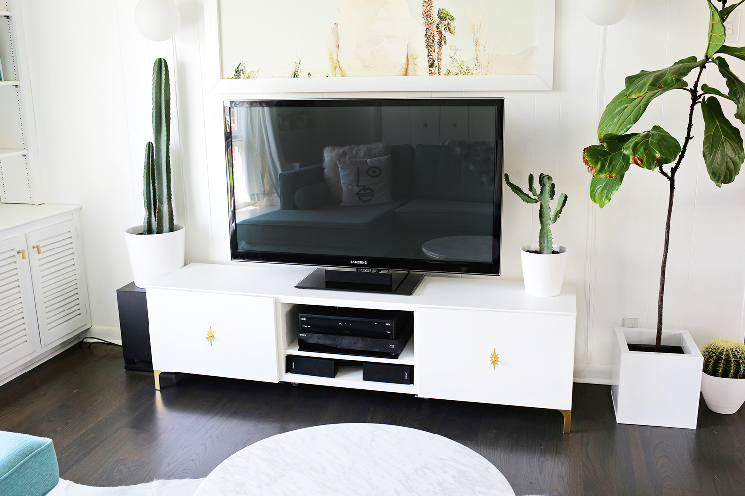 Ikea Credenza Tv Stand : Ikea restyle mid century tv stand a beautiful mess