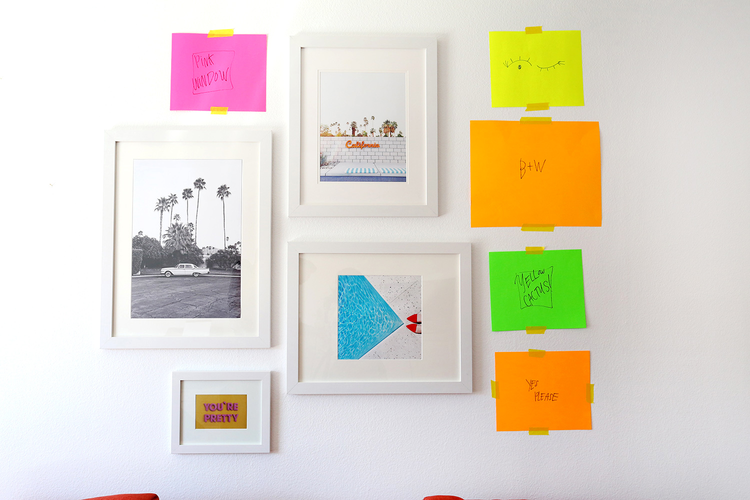 Katie's Gallery Wall with A Beautiful Mess