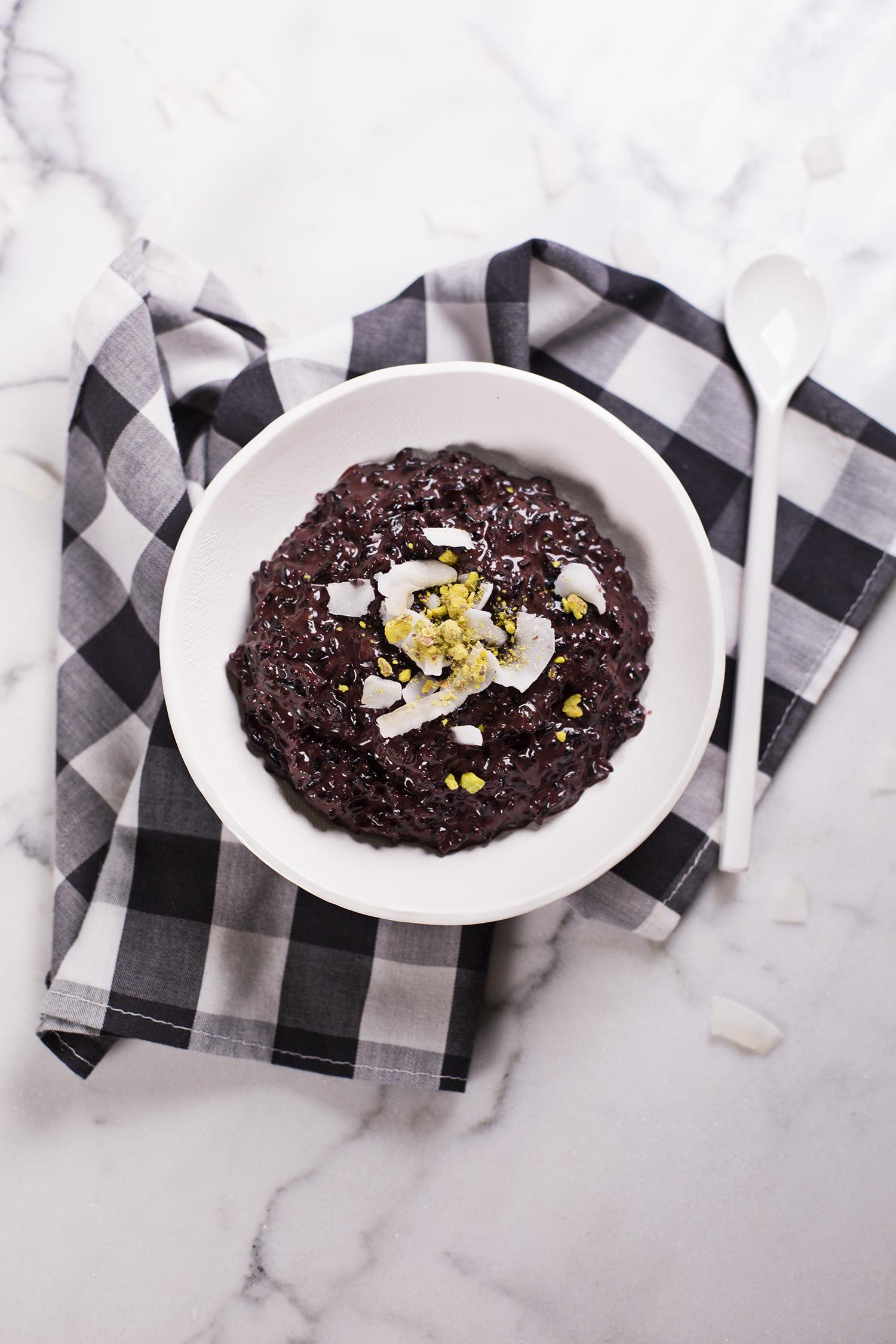 Spiced black rice pudding (via abeautifulmess.com)