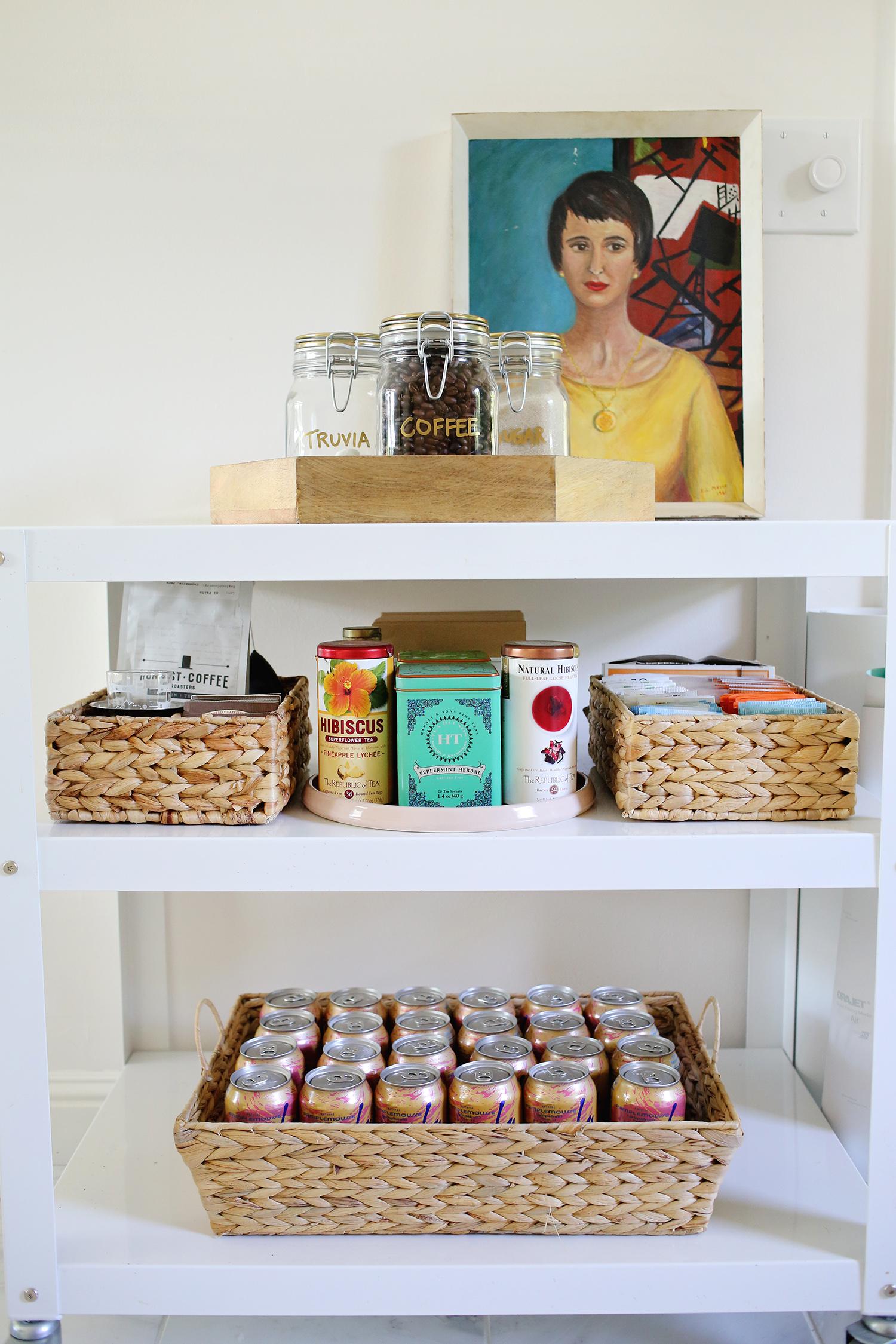 Organized coffee cart