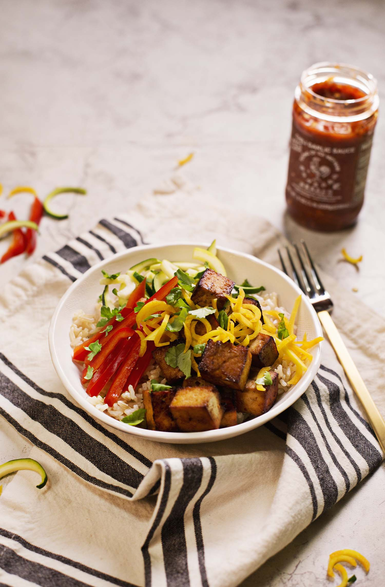 Spicy Brown Rice Bowls A Beautiful Mess