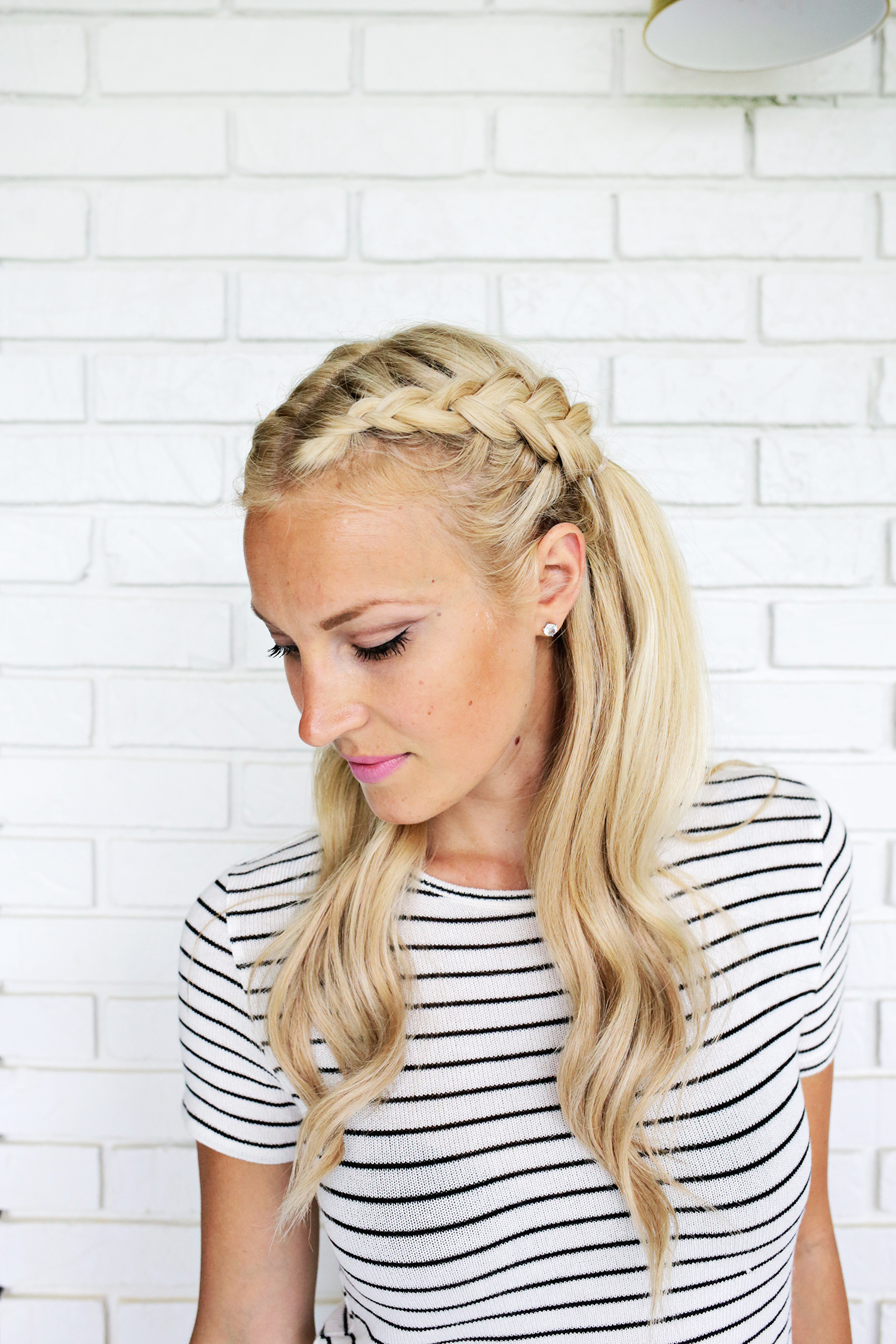 Pretty! Half-Up Braids with Mermaid Waves (click through for tutorial)