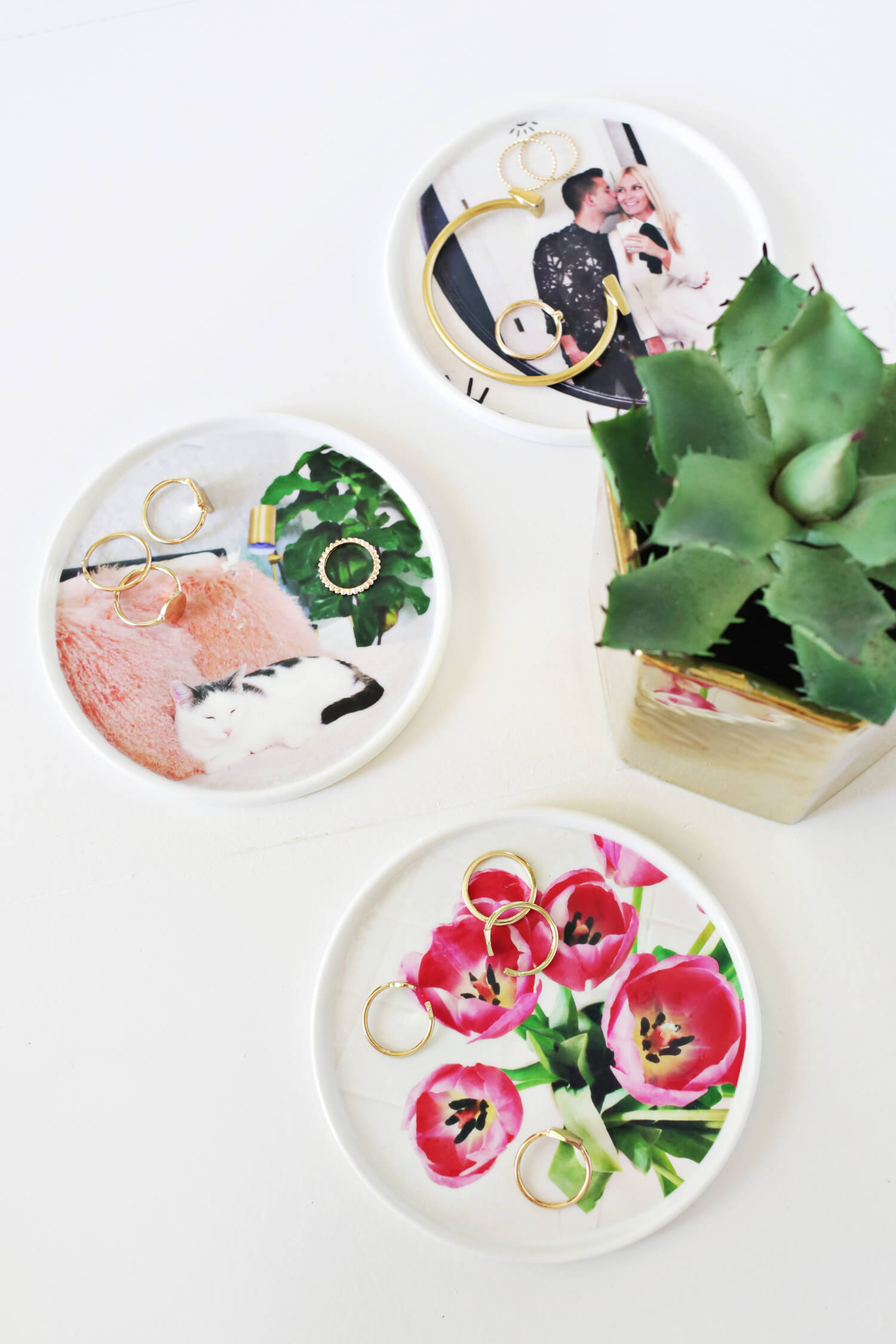 Make Your Own Personalized Photo Ring Dish! (click through for tutorial