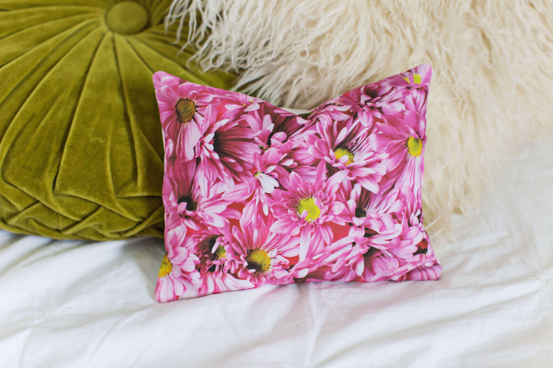Floral photo pillows!