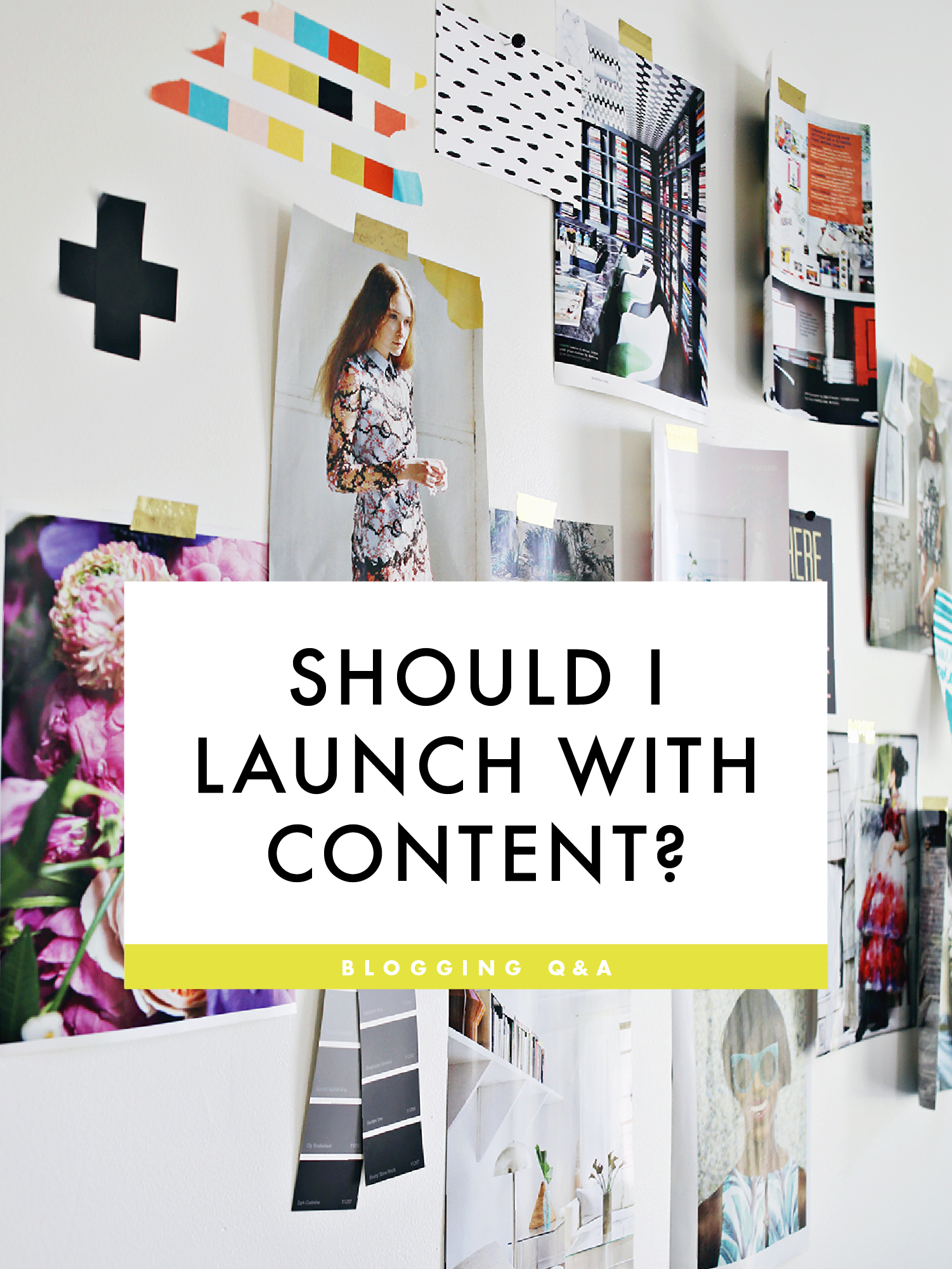 Should I launch my blog with content