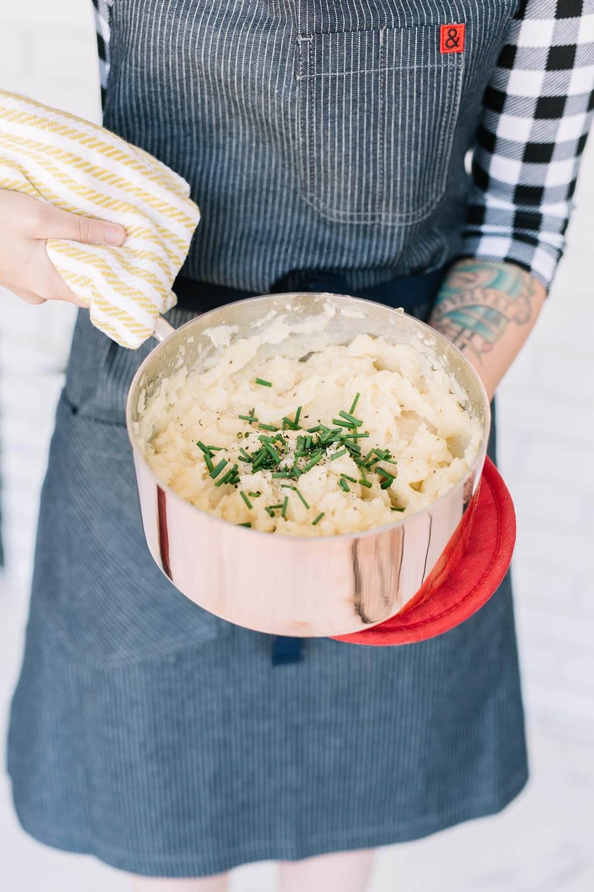 Gestampfte Pastinake und Kartoffeln