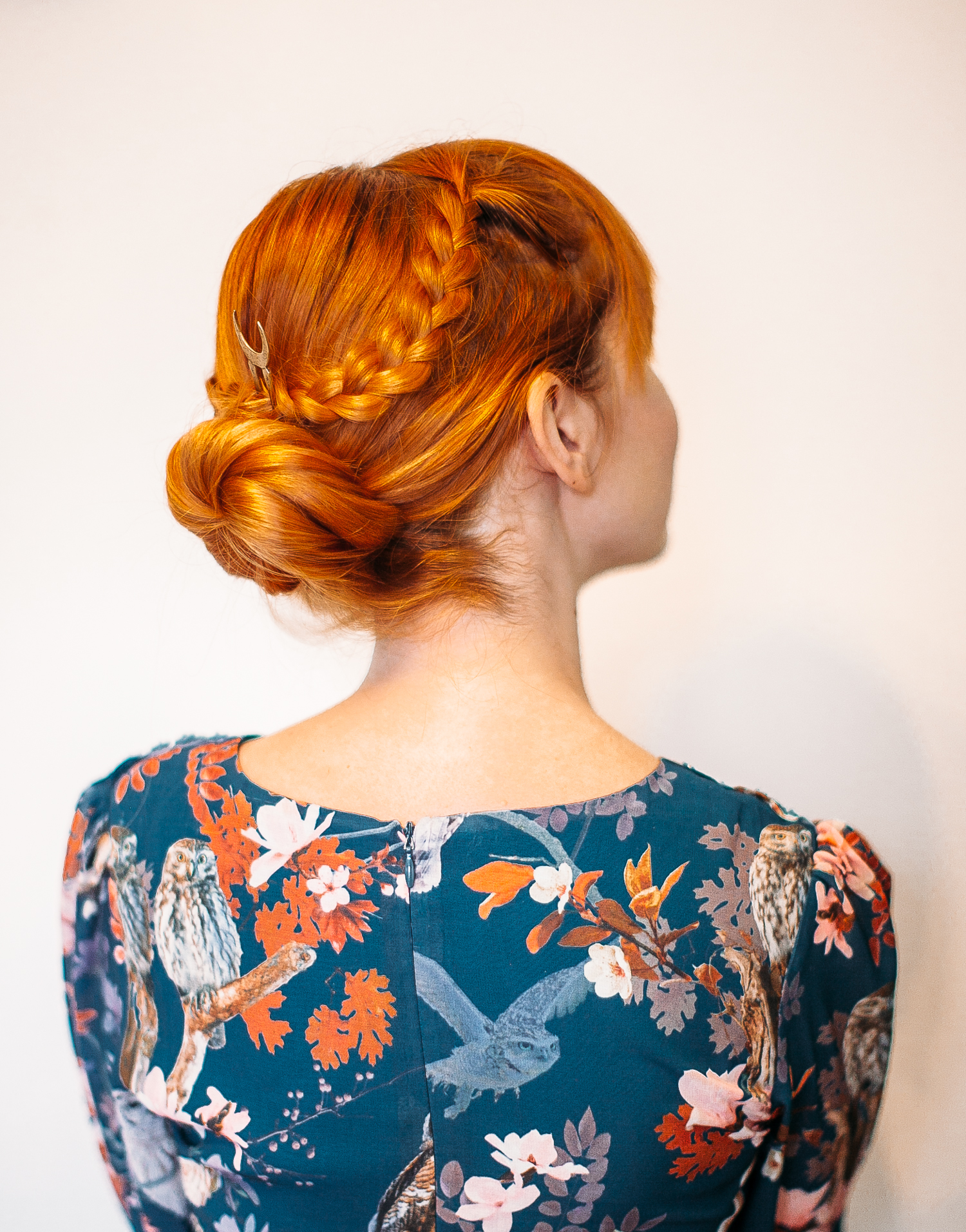 The five minute braided bun (click-through for the full tutorial)