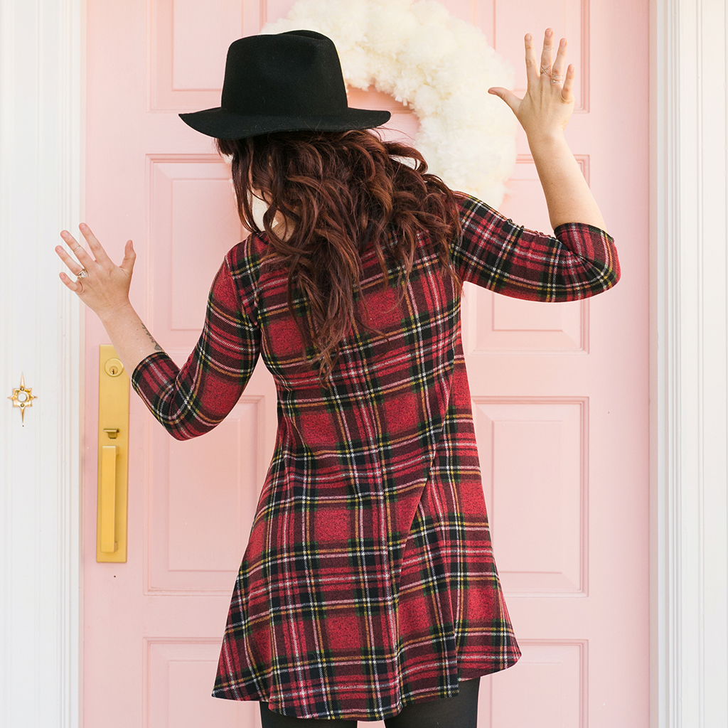 The Nineties Are Alive Plaid Dress 2