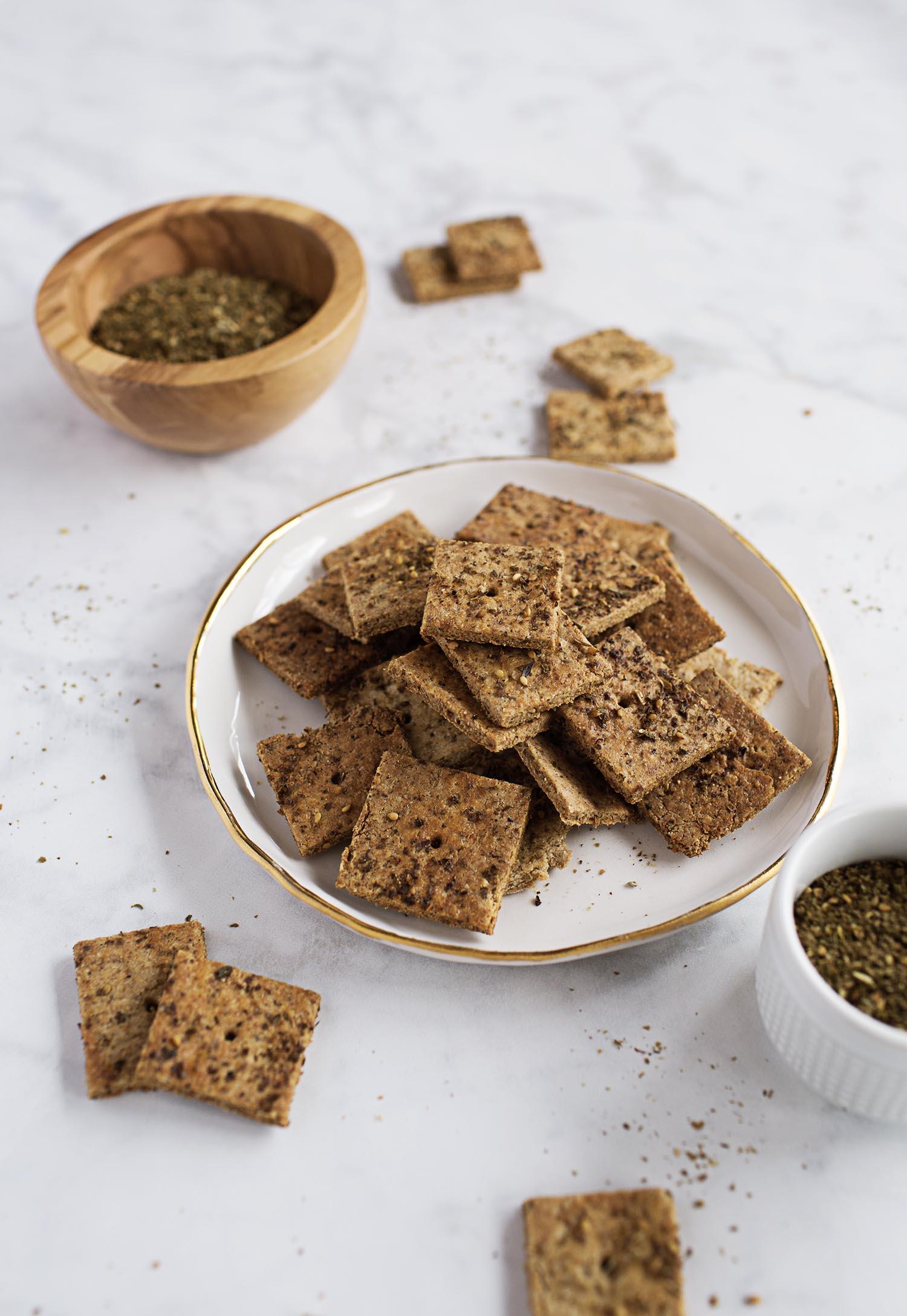 Homemade Whole Wheat Crackers (via abeautifulmess.com)