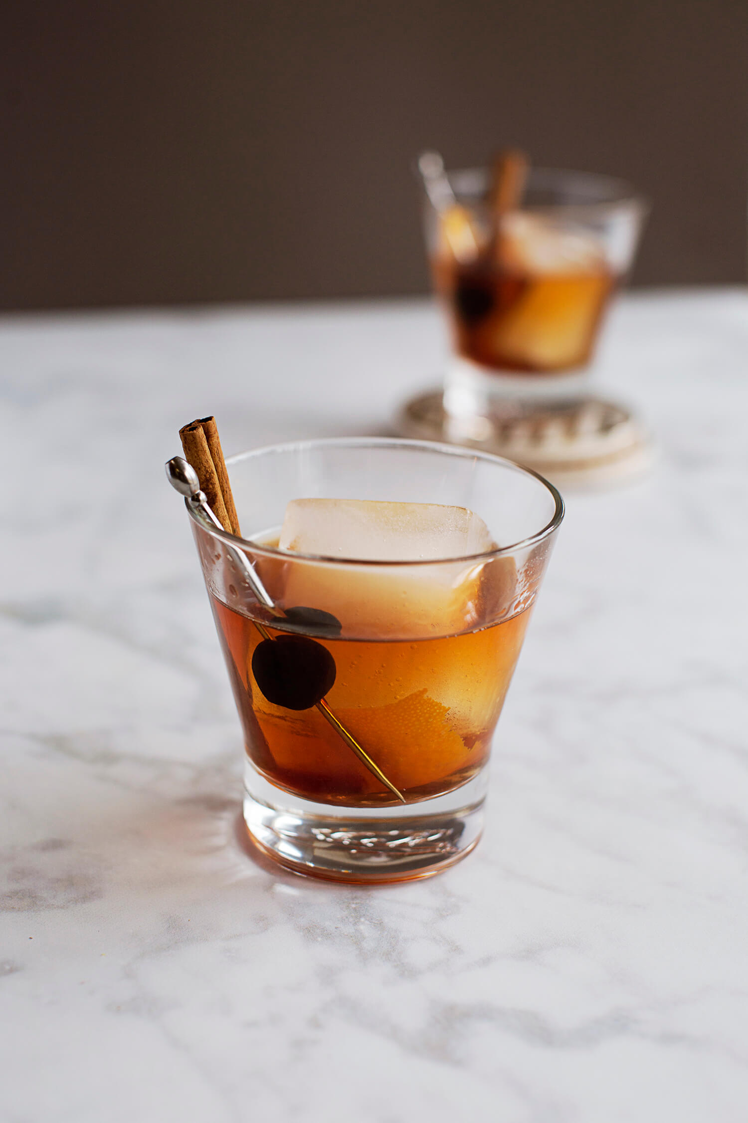Smoke and Cinnamon Old Fashioned (via abeautifulmess.com)