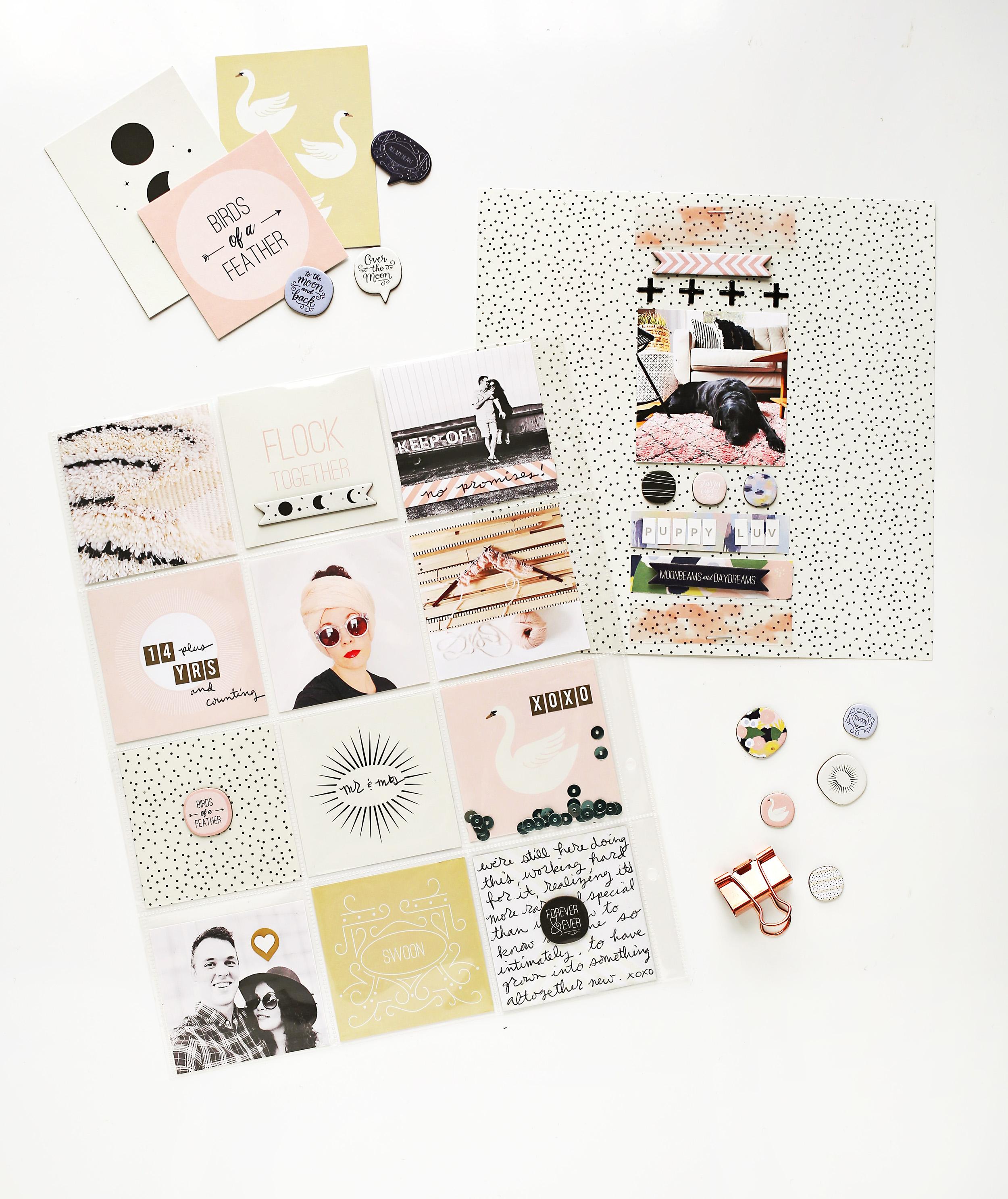 Scrapbook Sunday with A Beautiful Mess January Messy Box