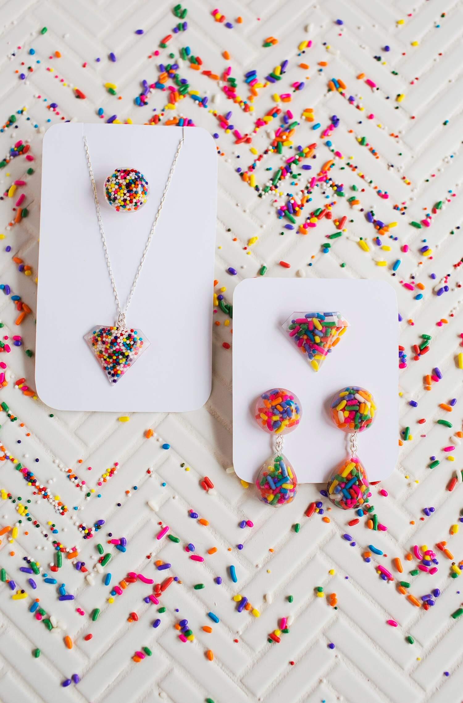 Sprinkle Epoxy Resin Jewelry