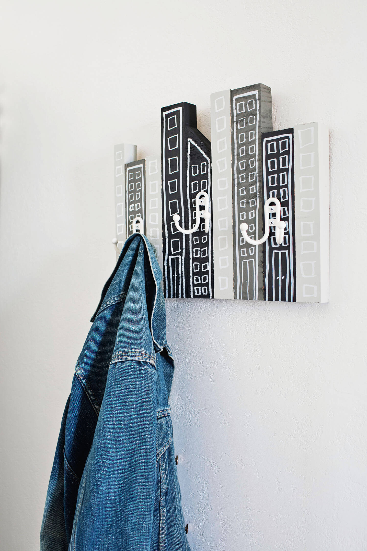 Scrapwood coat rack