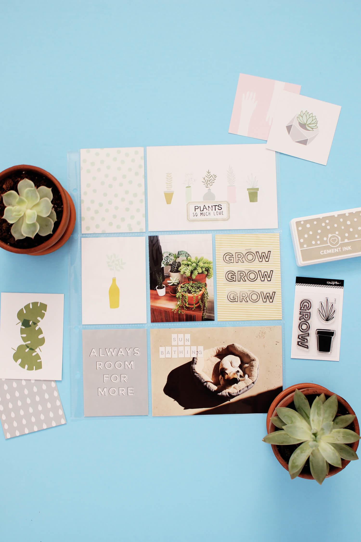 Scrapbook Sunday March Messy Box (via abeautifulmess.com)