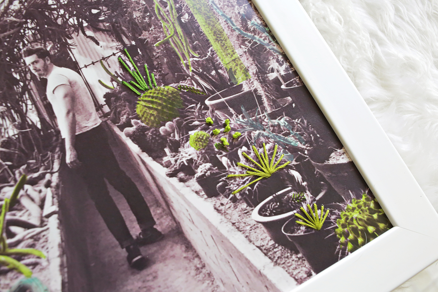 Retro Style Embroidered Photo DIY