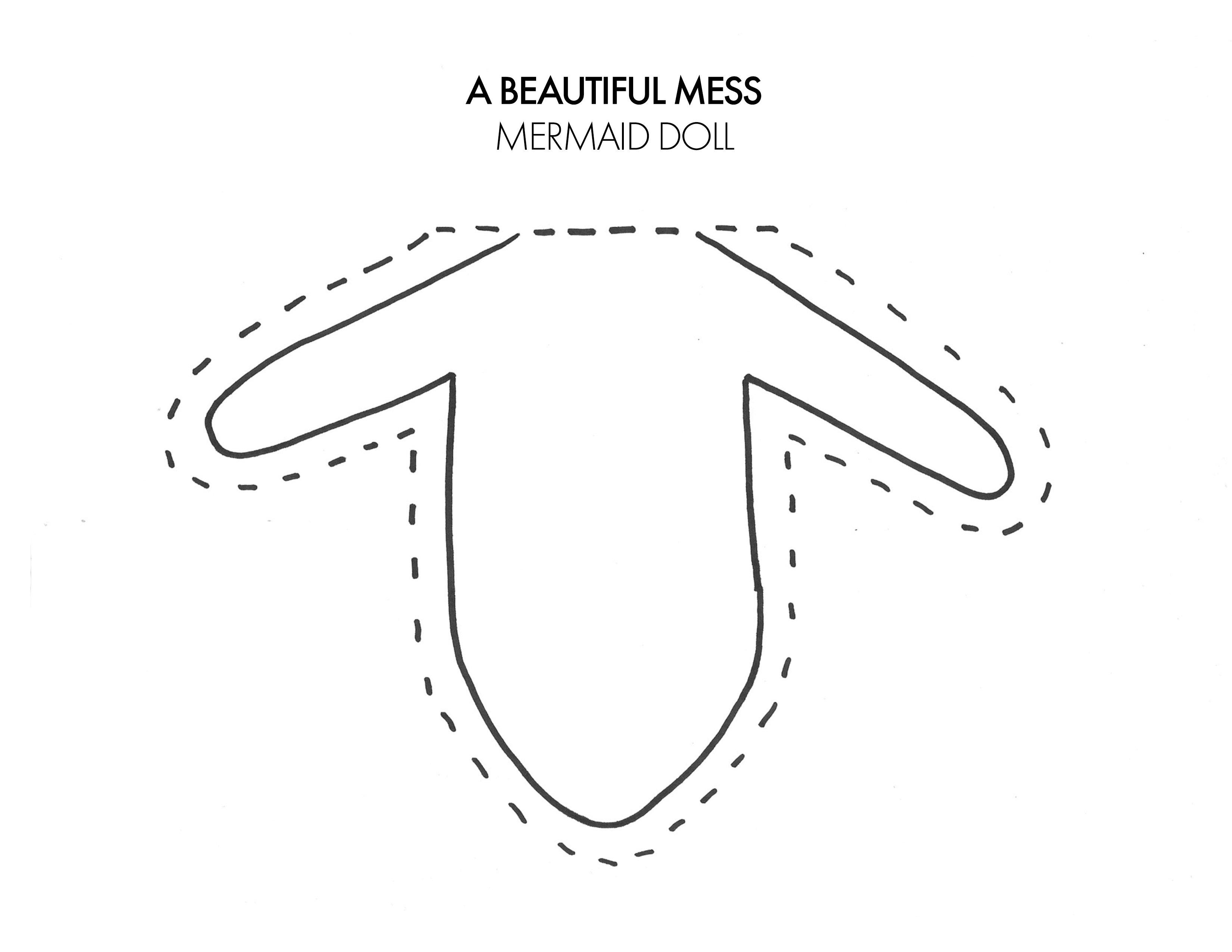 Mermaid Plush Dolls (with downloadable pattern) - A Beautiful Mess